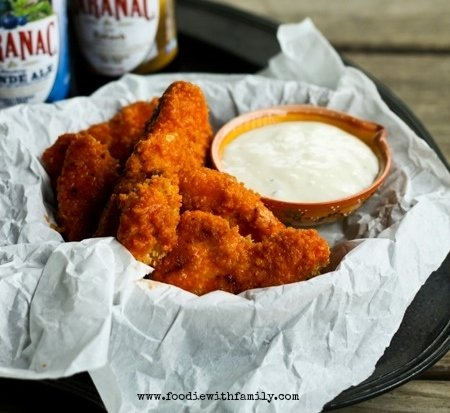 Oven Fried Homemade Chicken Nuggets & Boneless Buffalo Wings