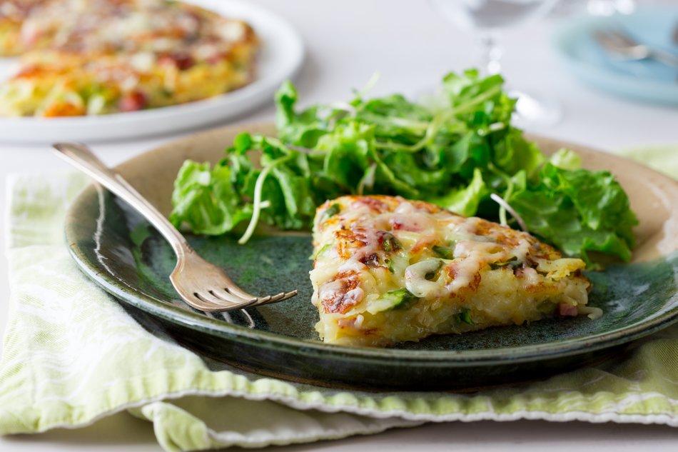 Cheddar, Ham & Asparagus Rosti
