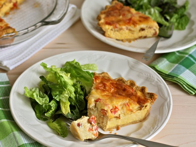 delicious dinner quiche with cabot cheddar cabot