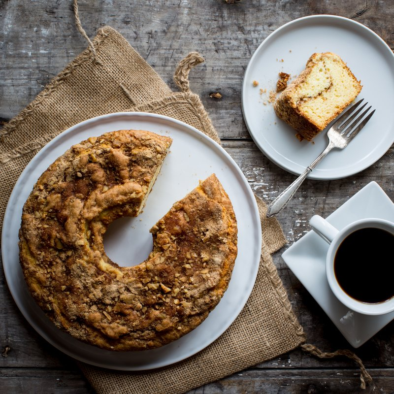 Vermont Maple Sour Cream Coffee Cake