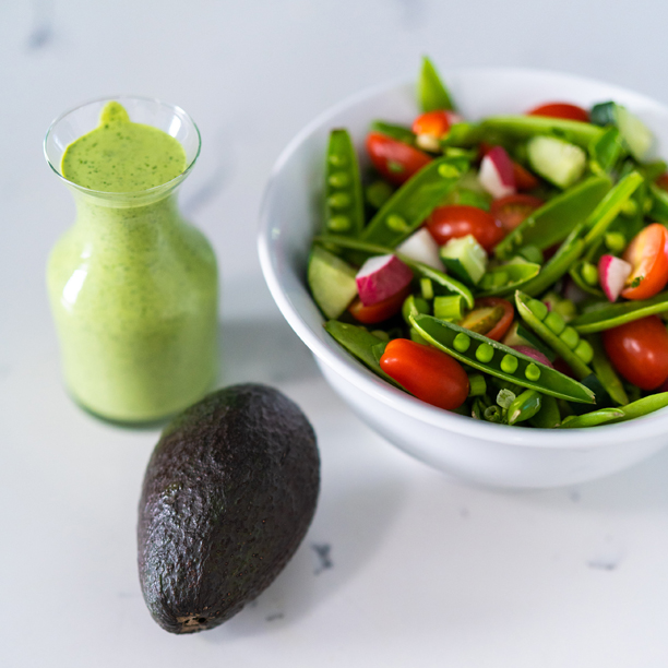 Summer Chopped Salad with Green Goddess Dressing