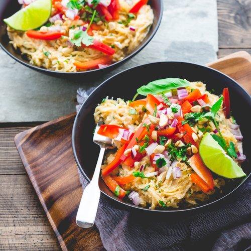 Creamy Thai Style Spaghetti Squash Noodles