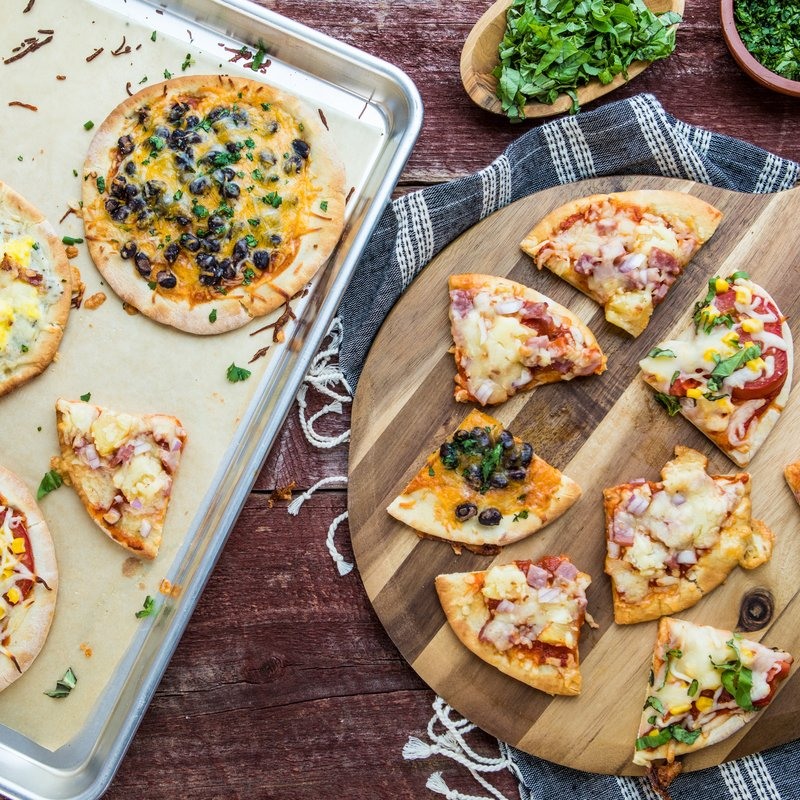 Pita Pizza Recipes - 4 Ways