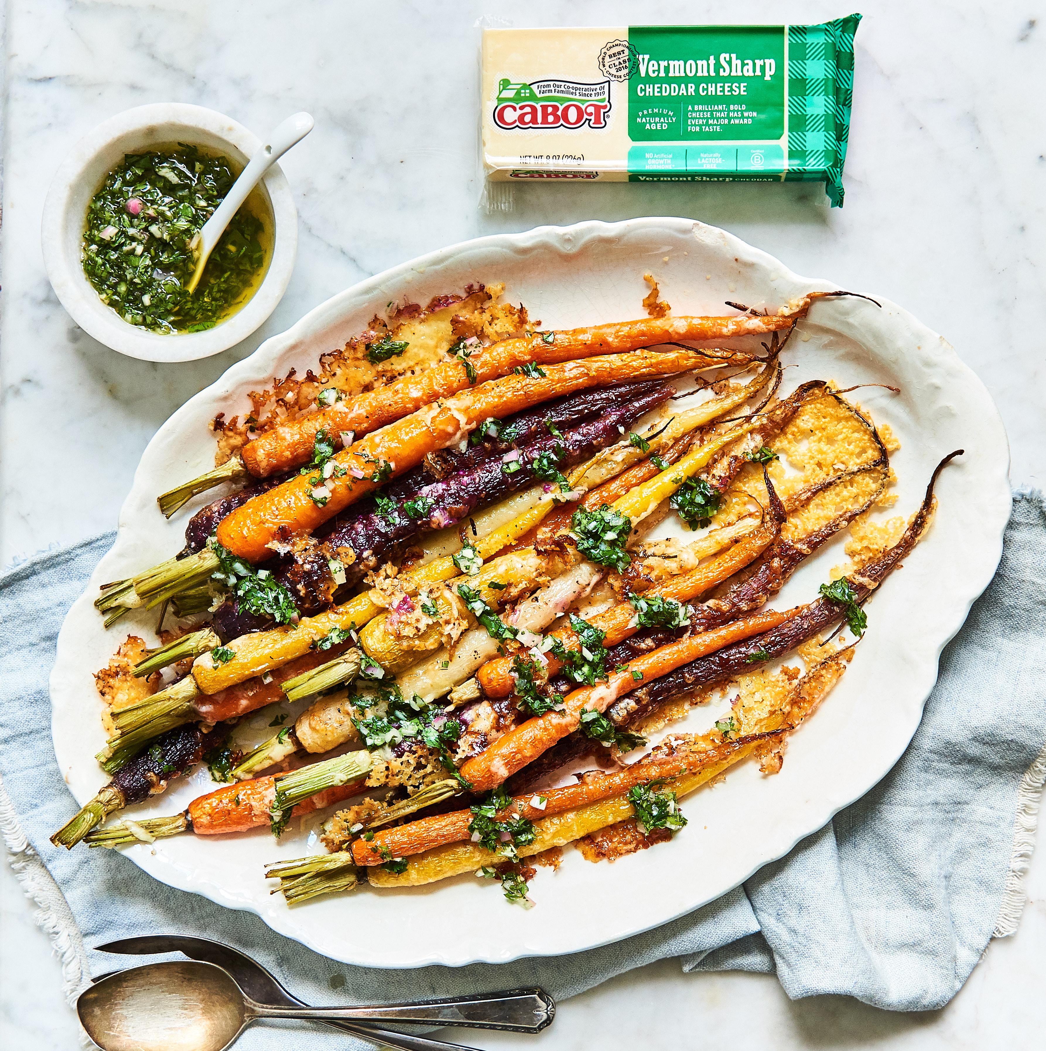 Roasted Carrots & Carrot-Top Chimichurri