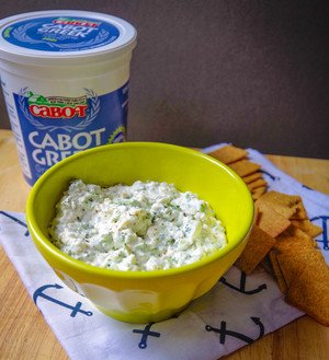 Broccoli-Cheddar Greek Yogurt Topping
