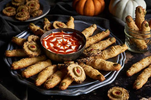 Spooky Halloween Crackers with Cabot Cheddar