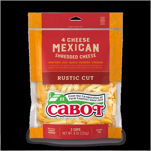 4 Cheese Mexican Rustic Cut Shredded Cheddar Cheese