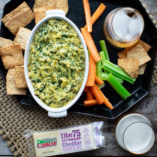 Lightened-Up Warm Artichoke & Spinach Dip