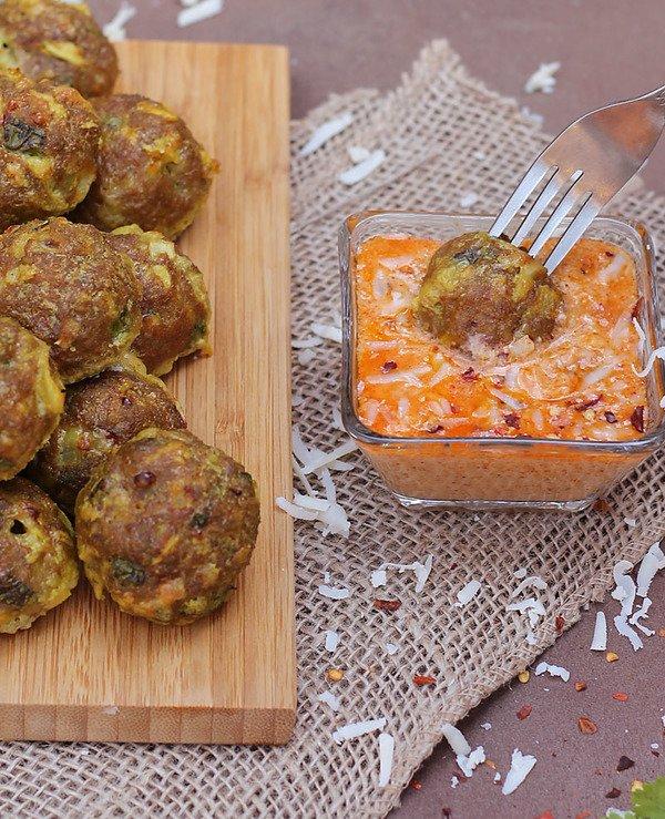 Cheesy Cheddar Stuffed Turkey Balls