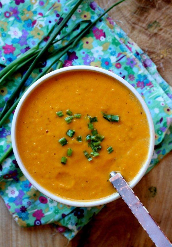 Cauliflower, Leek and Cheddar Soup