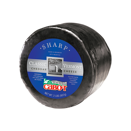 Classic Vermont Sharp Cheddar Cheese Waxed Wheel