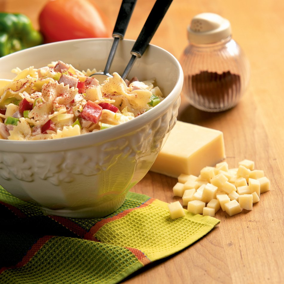 Bow Tie Pasta Salad with Light Cheddar