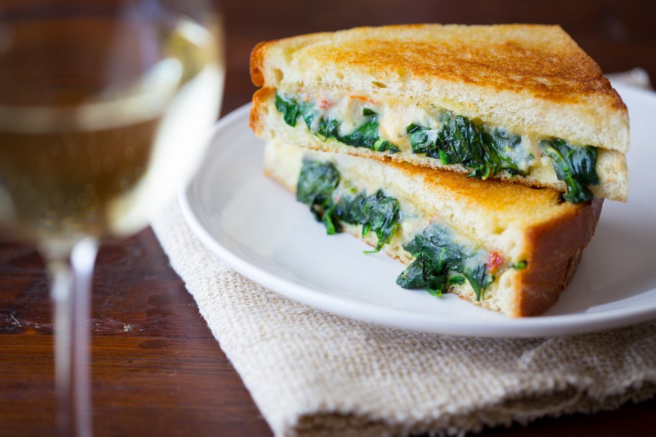 Grilled Cheese Florentine