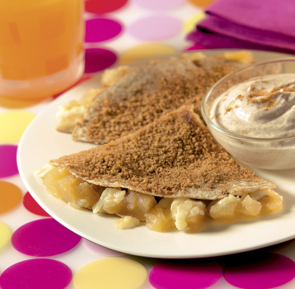 Apple Cinnamon Breakfast Quesadillas
