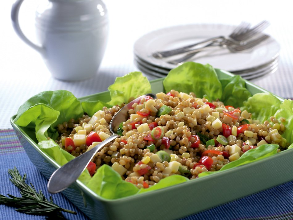 Maple-Wheat Berry Salad