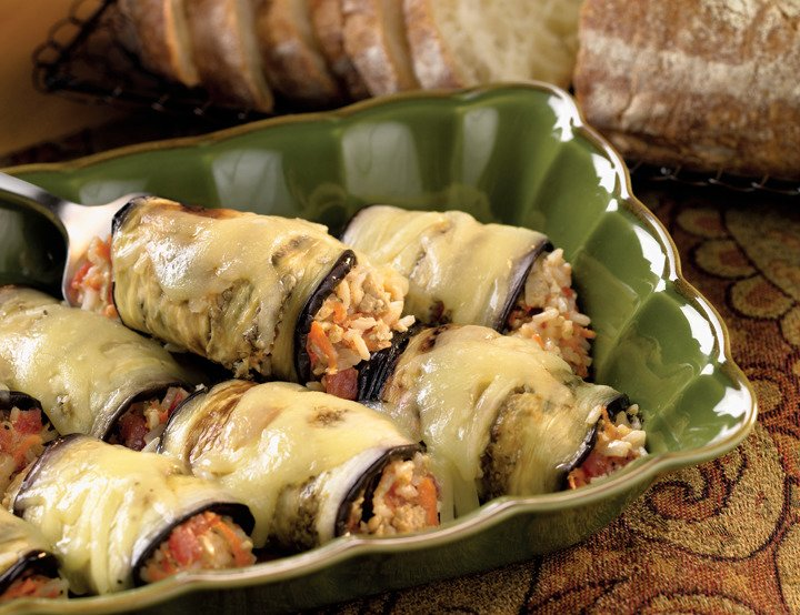 Rolled Stuffed Eggplant