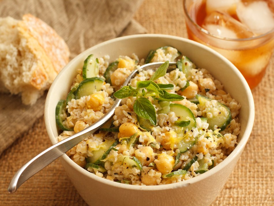 Bulgur, Cucumber & Chickpea Salad