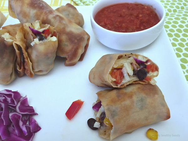 Vegetarian South Western Egg Rolls