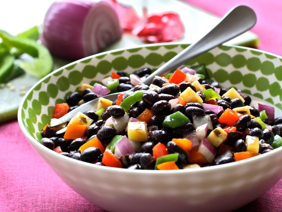 Black Bean Salad with Lime Cinnamon Vinaigrette