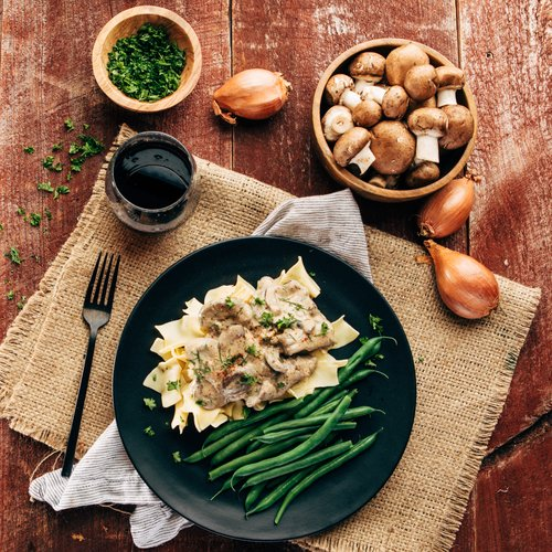 Beef Stroganoff Recipe with Yogurt Sauce