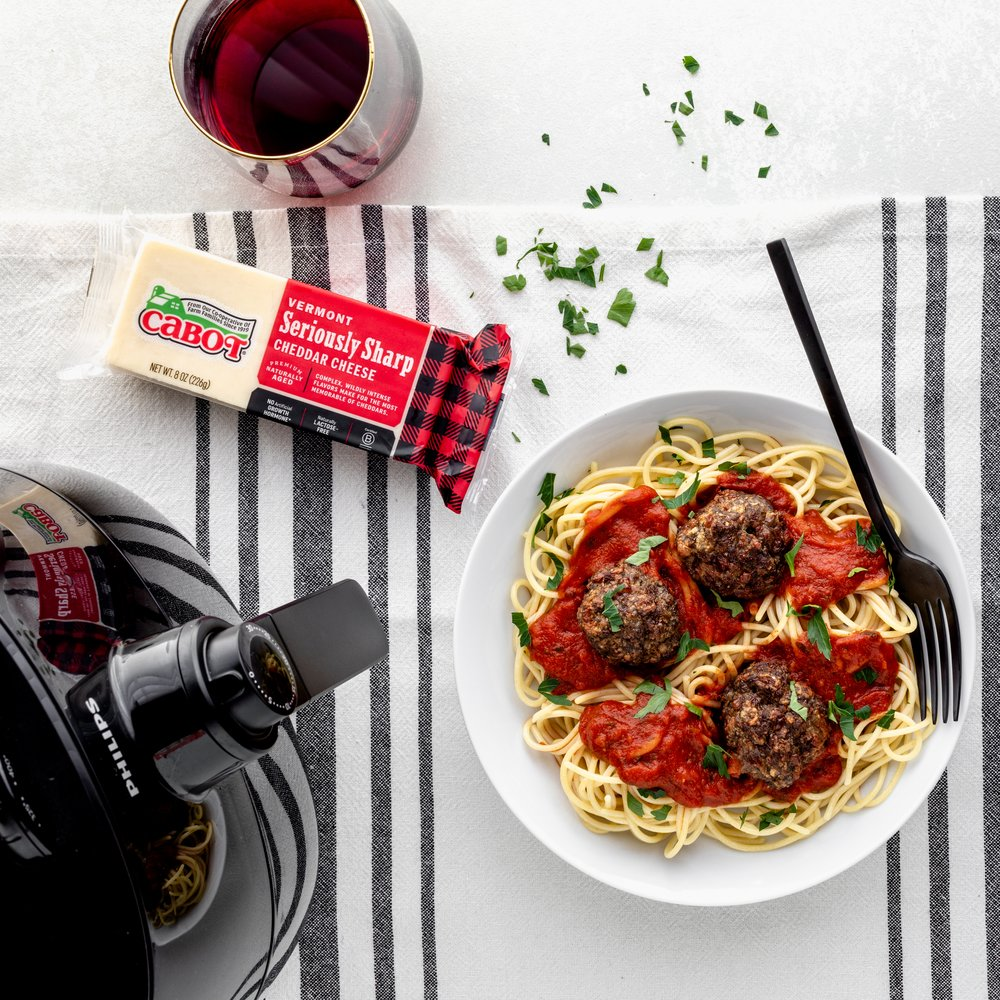 Air Fryer Cheddar Meatballs