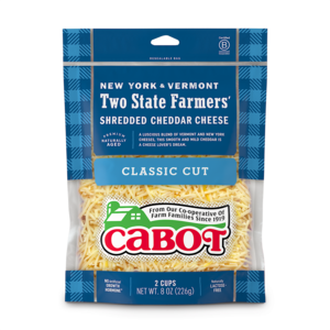 Two State Farmers' Shredded Cheddar Cheese package image