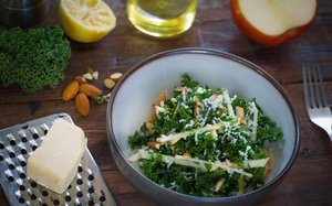 Kale, Apple and Cheddar Salad