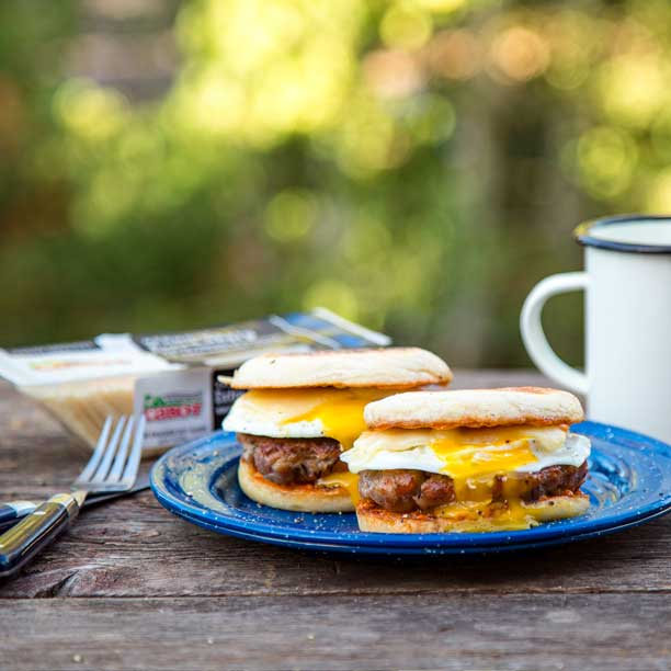 Campfire Breakfast Sandwiches