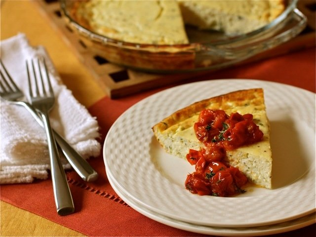 Baked Cottage Cheese with Roasted Grape Tomatoes