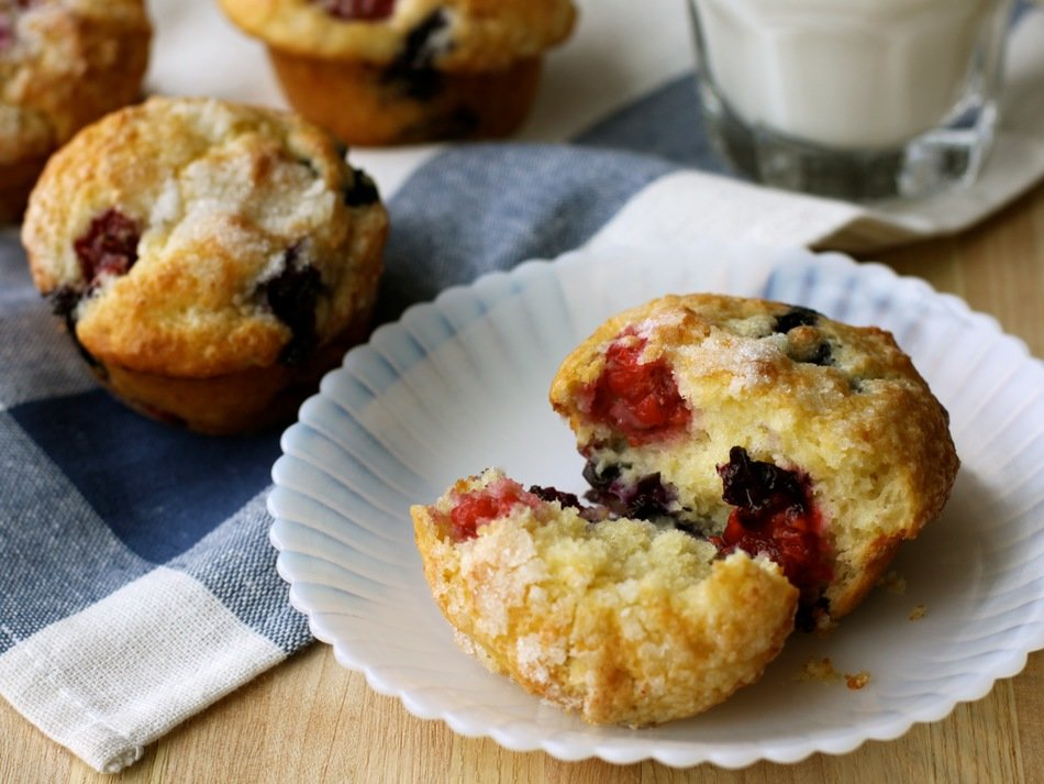 Lemon Berry Muffins Recipe with Cabot Greek Yogurt