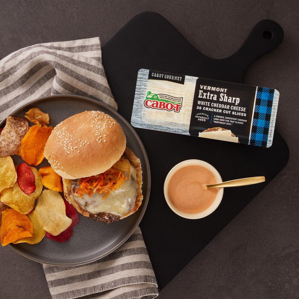 Kimchi Cheddar Burgers