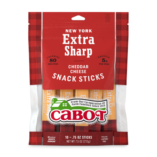 NY Extra Sharp Yellow Cheddar Cheese Snack Sticks