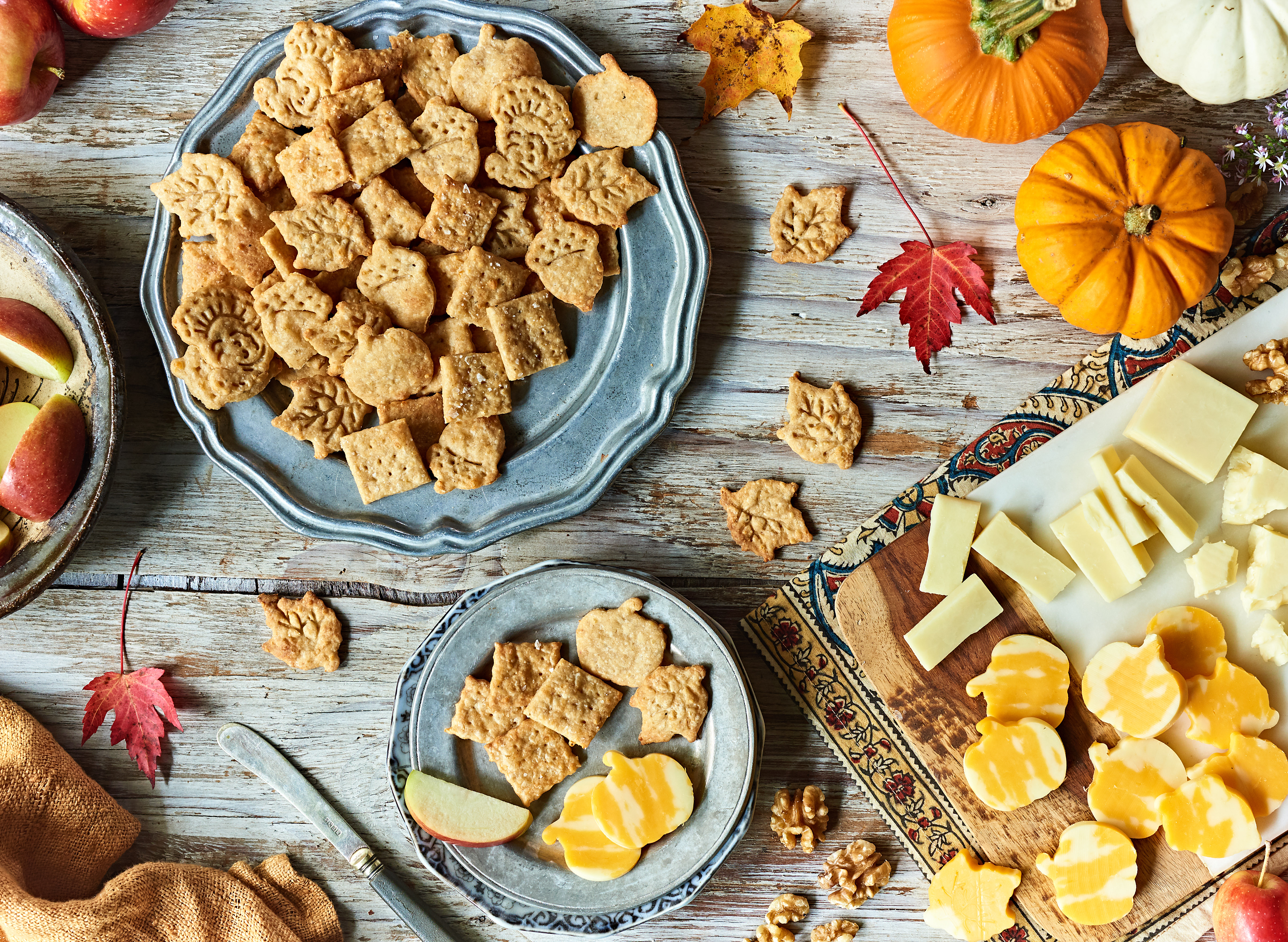 Festive Fall Cheesy Crackers with Cabot Cheddar
