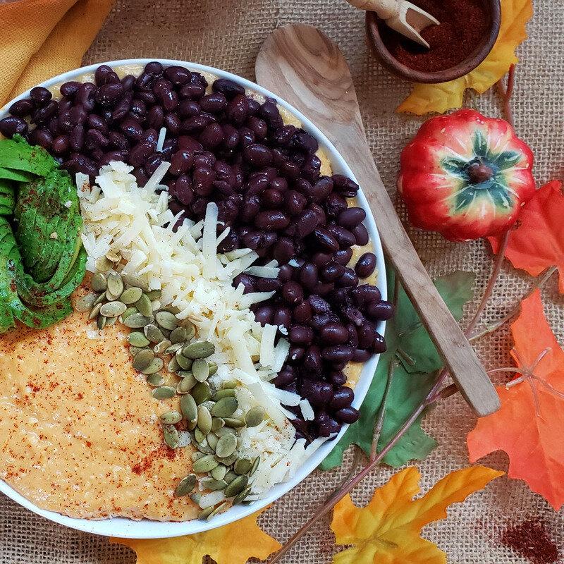 Black Bean, Pumpkin & Cheddar Grits Bowl