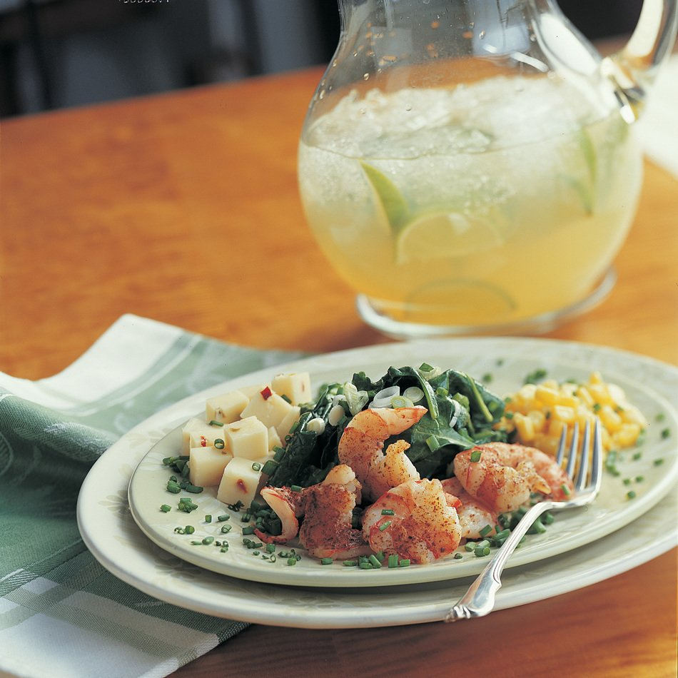 Spicy Shrimp & Cabot Cheddar Spinach Salad