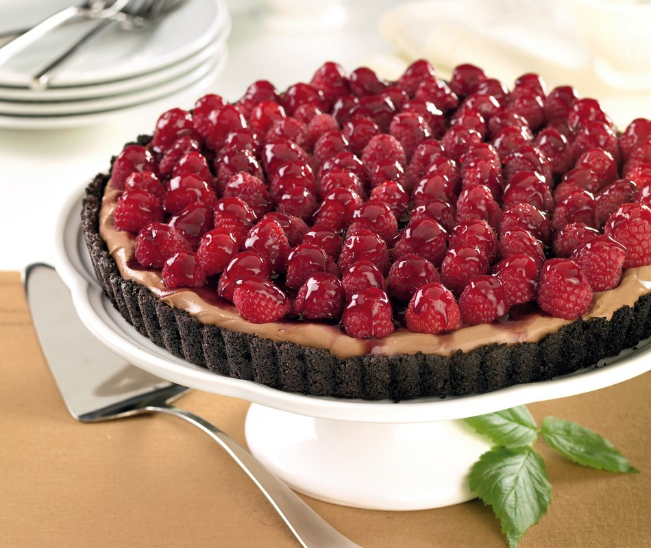 Espresso Tart with Raspberries