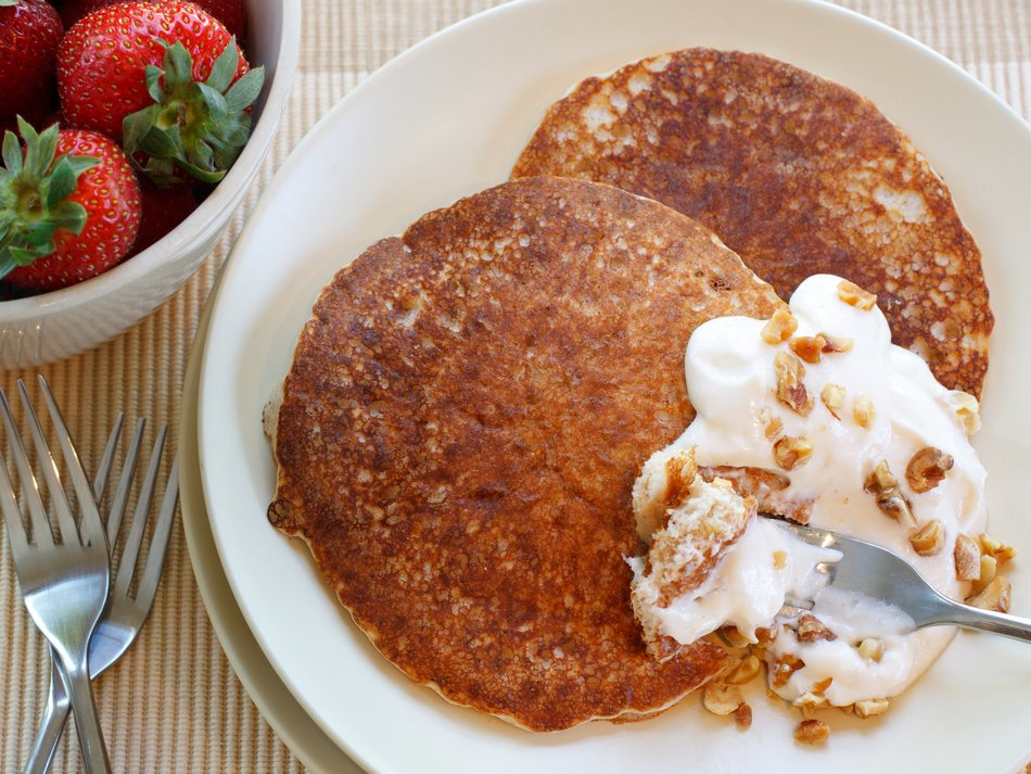 High Protein Crunchy Pancakes Recipe