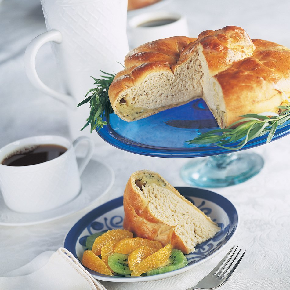 Sweet Cheese-Filled Bread