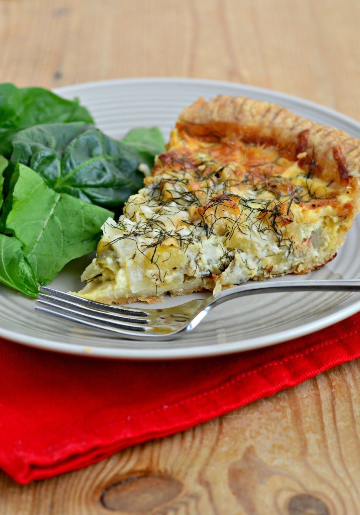 Apple, Fennel and Cheddar Quiche
