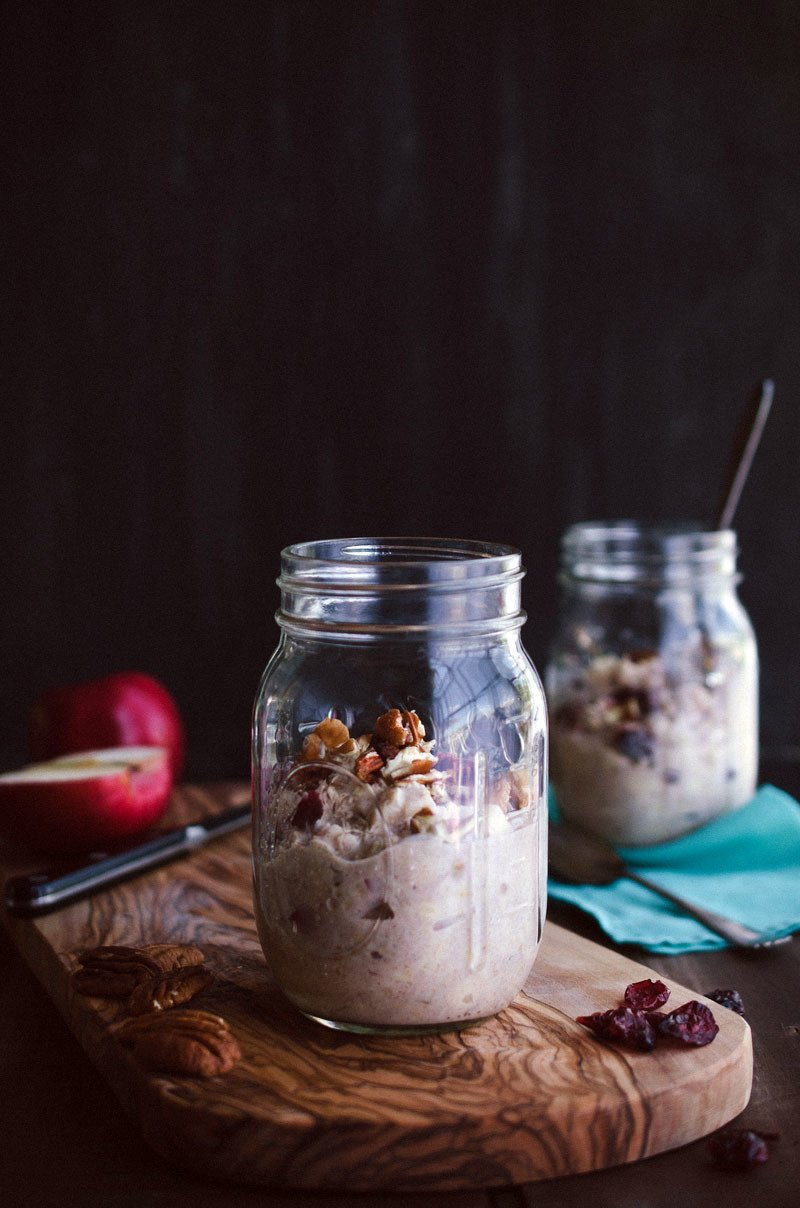 Cranberry Apple Pecan Overnight Oats