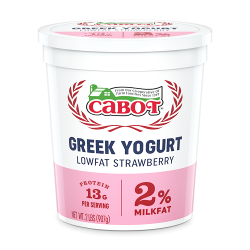Lowfat Strawberry Greek Yogurt