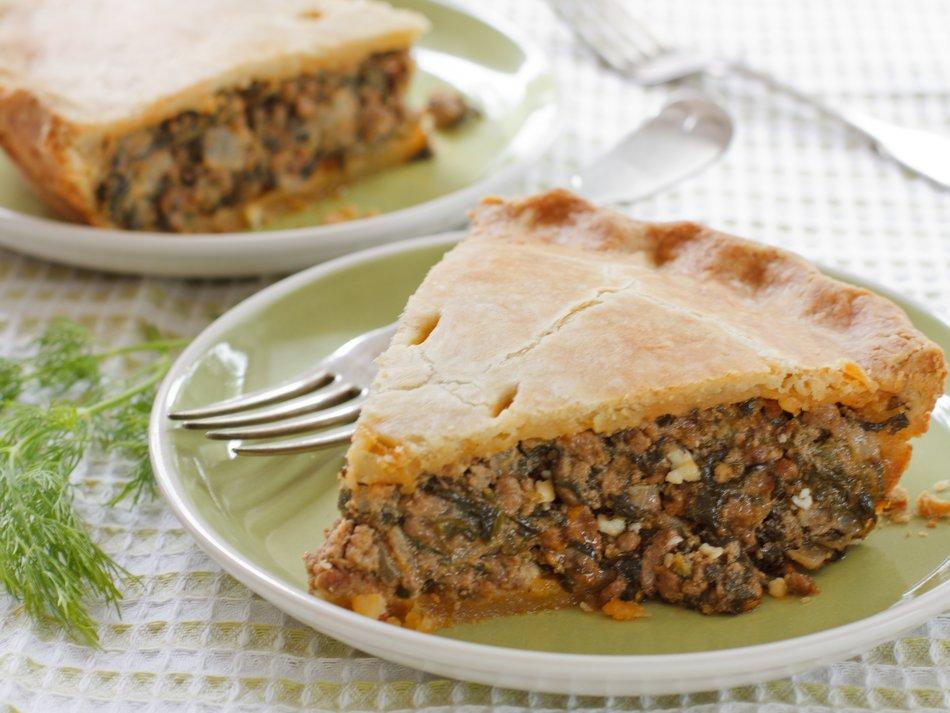 Greek Meat & Spinach Pie