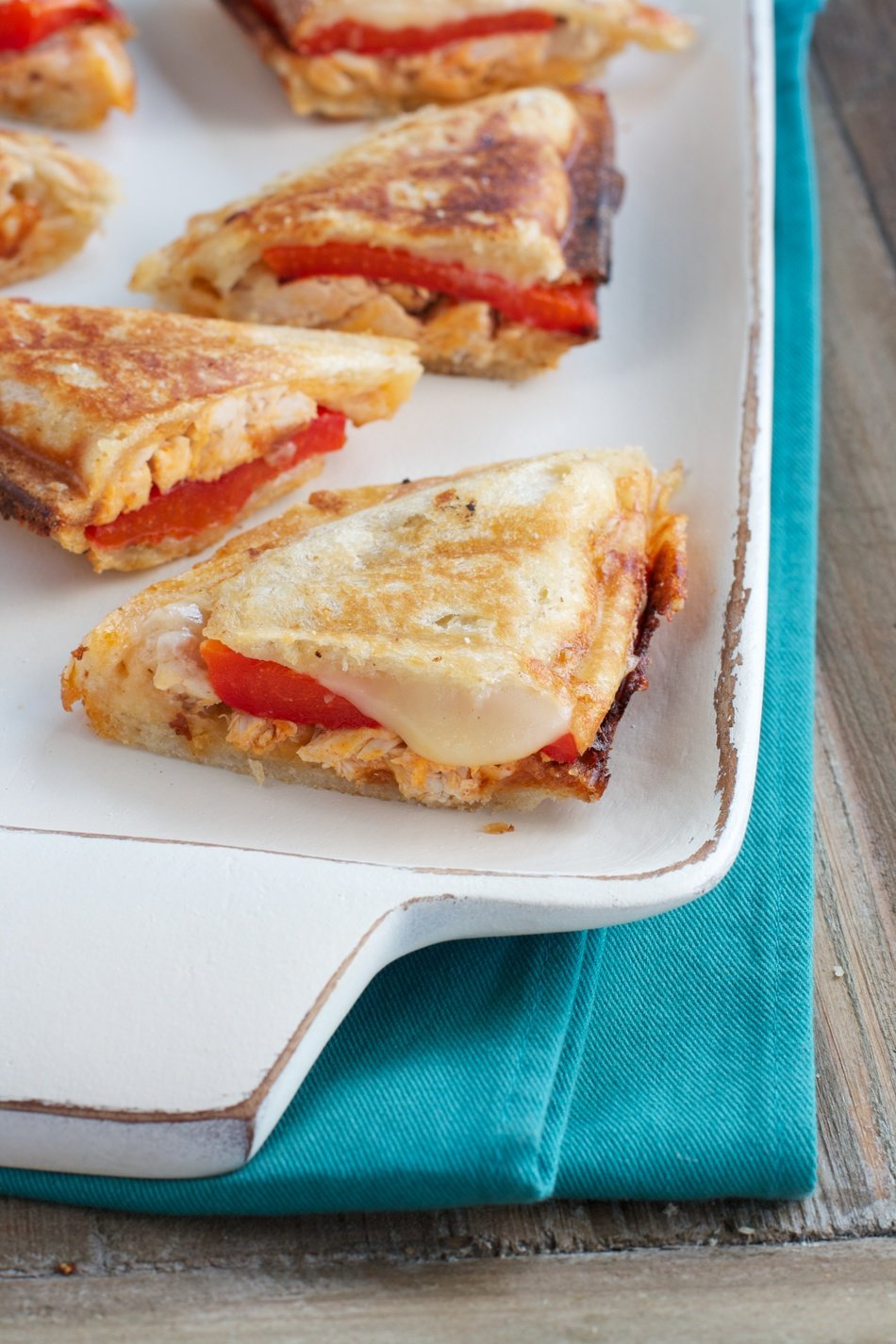 Buffalo Chicken & Pepper Grilled Cheese