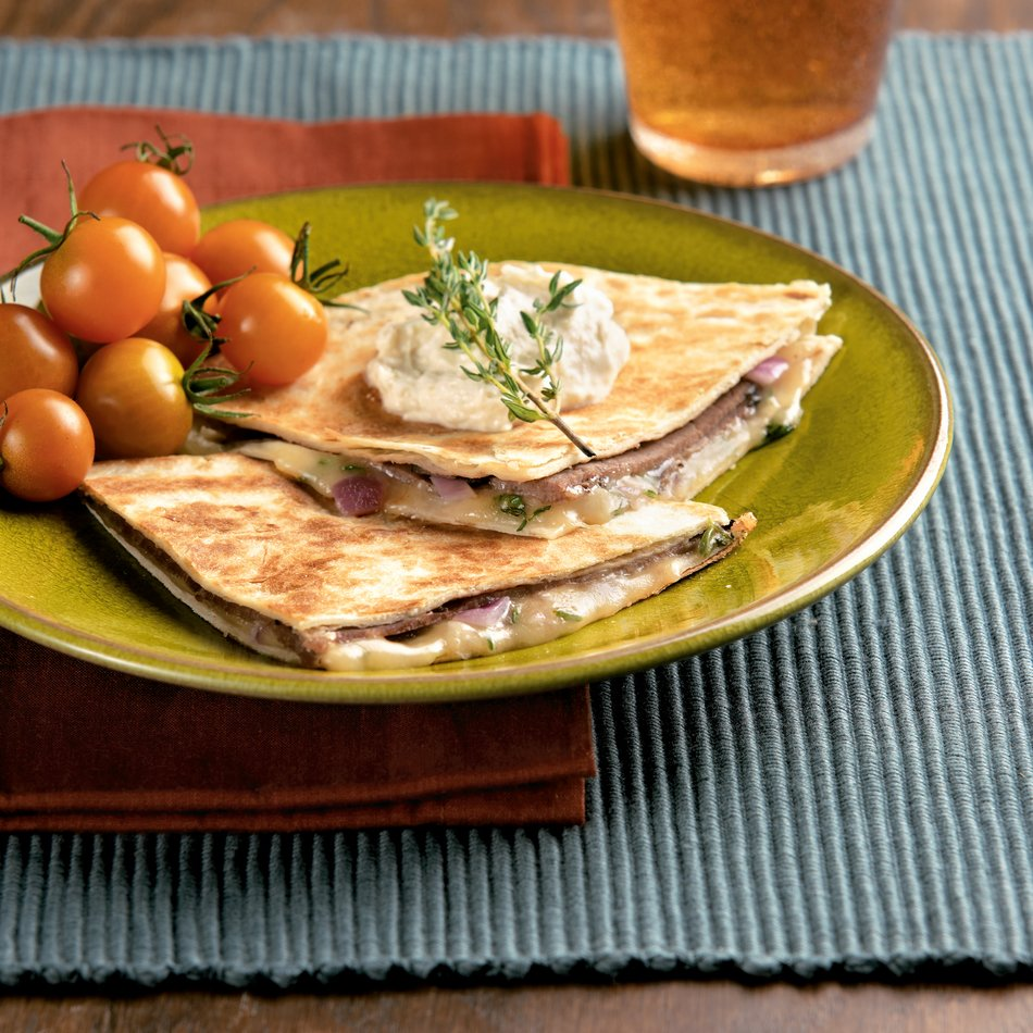 Roast Beef-n-Cheese Quesadillas
