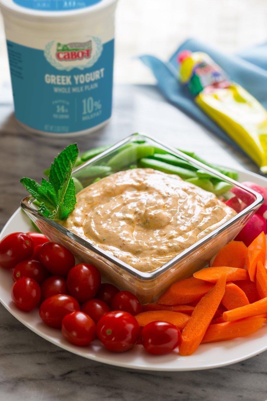 Harissa and Mint Greek Yogurt Dip