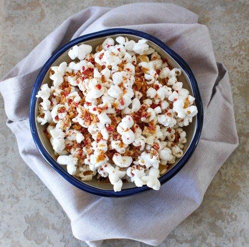 Cheesy Veggie Chip Popcorn