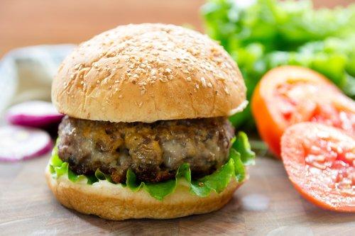 Portobello Alpine Beef Burgers
