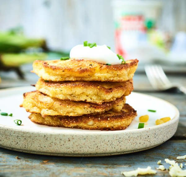 Corn Cheddar Fritters Recipe with Cabot Cheddar