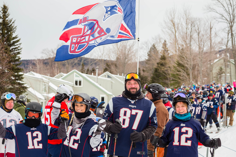 Photos and Video: Pats fans show pride at Sugarloaf