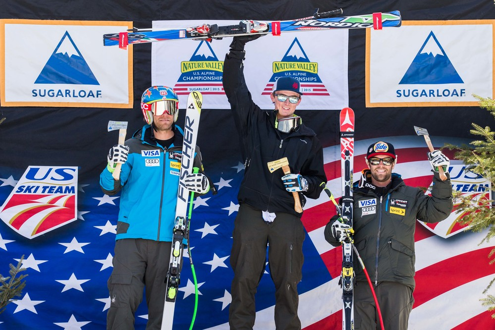 Newcomer, Drew Duffy claims men's Super G national title at Sugarloaf